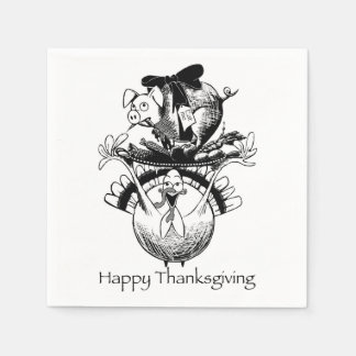 Happy Thanksgiving Paper Serviettes