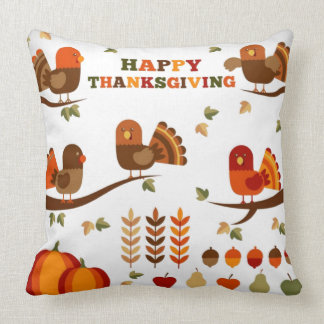 Happy Thanksgiving Pattern Cushion
