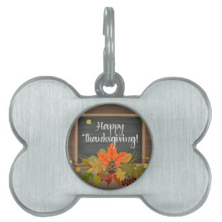 happy thanksgiving pet name tag