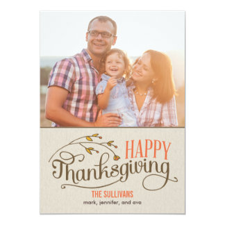 Happy Thanksgiving Photo Cards 13 Cm X 18 Cm Invitation Card