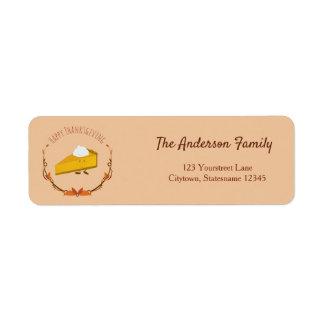 Happy Thanksgiving Pie | Return Address Label