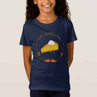 Happy Thanksgiving Pie Slice   Girl's T-shirt