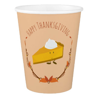 Happy Thanksgiving Pie Slice | Paper Cups