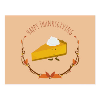 Happy Thanksgiving Pie Slice | Postcard
