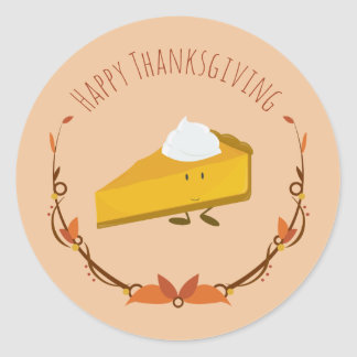 Happy Thanksgiving Pie Slice | Sticker