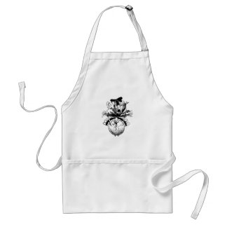 Happy Thanksgiving Pig and Turkey Standard Apron