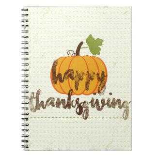Happy Thanksgiving pumpkin Spiral Notebook