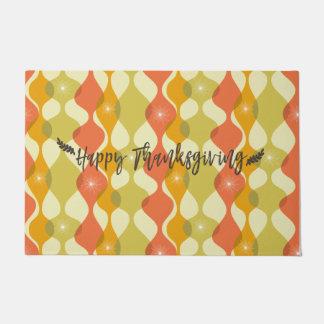Happy Thanksgiving Retro Autumn Doormat
