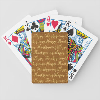Happy Thanksgiving scripture Bicycle Playing Cards