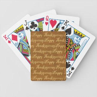 Happy Thanksgiving scripture Poker Deck