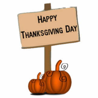 Happy Thanksgiving Sign Photo Cut Out