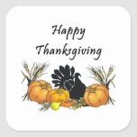 Happy Thanksgiving Square Stickers