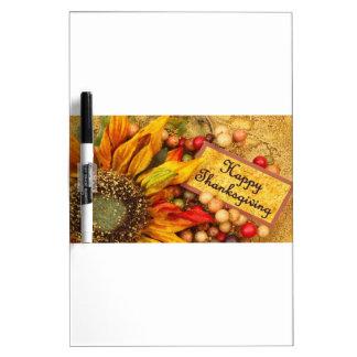 Happy Thanksgiving Sunflower Dry Erase Board