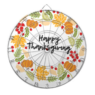 HAPPY THANKSGIVING, Thanksgiving Wreath, Cute Dartboard