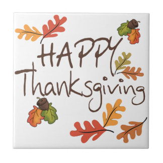 Happy Thanksgiving Ceramic Tile