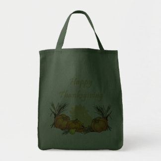Happy Thanksgiving Grocery Tote Bag