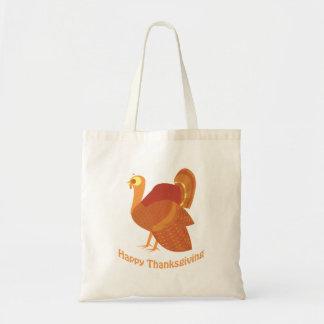 Happy Thanksgiving Turkey Budget Tote Bag