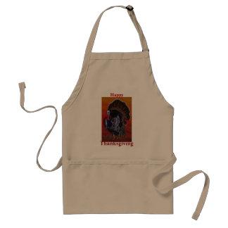 Happy Thanksgiving Turkey customizable apron