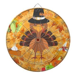 happy thanksgiving turkey dartboard