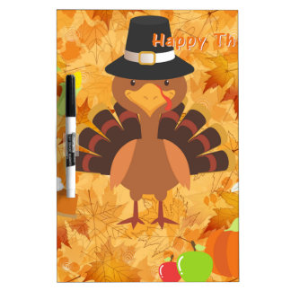 happy thanksgiving turkey dry erase board