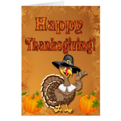 Happy Thanksgiving Turkey Greeting Card