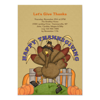 Happy Thanksgiving Turkey Invitation