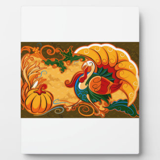 Happy Thanksgiving Turkey Pumpkin Plaque