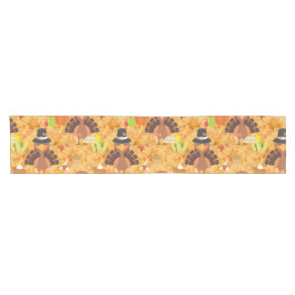 happy thanksgiving turkey tablerunner table runner