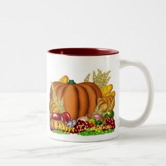 Happy Thanksgiving Two tone Coffee Mug