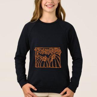 Happy Thanksgiving Typography Orange Pumpkins Sweatshirt