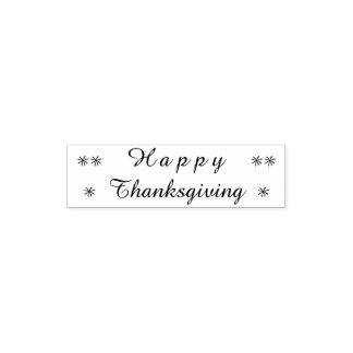 Happy Thanksgiving Typography Stars Stamp