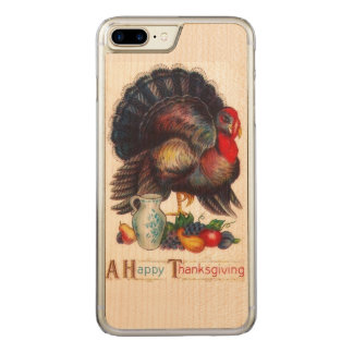 Happy Thanksgiving Vintage Carved iPhone 7 Plus Case