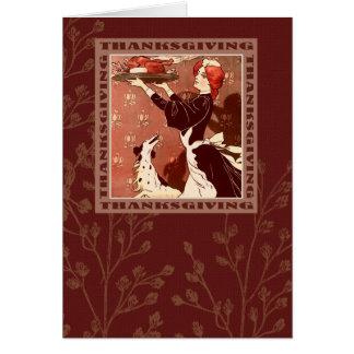 Happy Thanksgiving. Vintage Design Greeting Cards