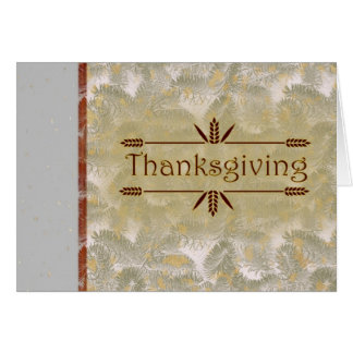 Happy Thanksgiving with flowers and leaves Card