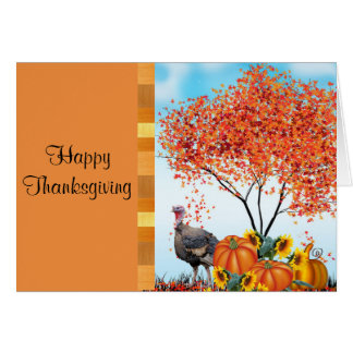 Happy Thanksgiving with Greeting Inside Card