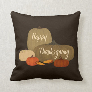 Happy Thanksgiving with Pumpkins Cushion