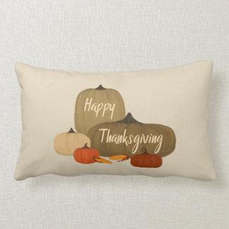 Happy Thanksgiving with Pumpkins Lumbar Cushion