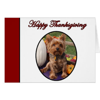 Happy Thanksgiving Yorkshire Greeting Card