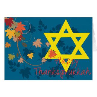 Happy Thanksgivukkah Card: Thanksgiving & Hanukkah Card