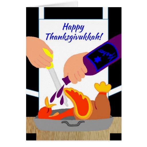 Happy Thanksgivukkah Funny Turkey Greeting Card