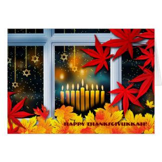 Happy Thanksgivukkah. Hanukkah and Thanksgiving Card