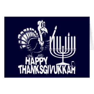 Happy Thanksgivukkah Turkey & Menorah Cards