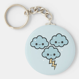 Happy Thunder Clouds Key Ring