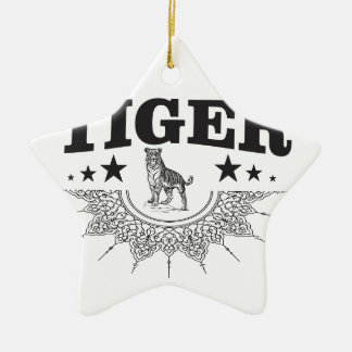 happy tiger ceramic ornament