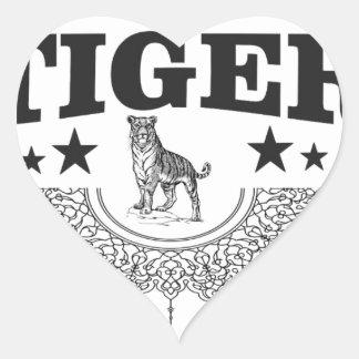 happy tiger heart sticker