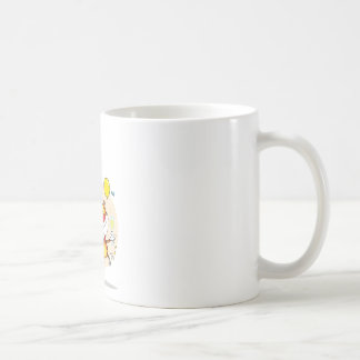 Happy Tiger In Party Basic White Mug