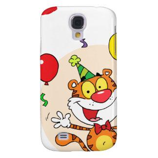 Happy Tiger In Party Samsung Galaxy S4 Case