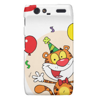 Happy Tiger In Party Droid RAZR Covers