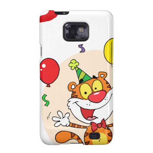Happy Tiger In Party Samsung Galaxy SII Cases