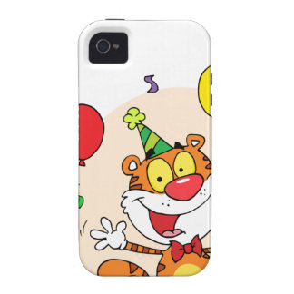 Happy Tiger In Party Case-Mate iPhone 4 Cover